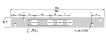 Планка запорная П3-7РМ-Хп