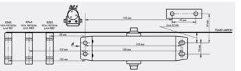 Доводчик NOTEDO DC-090 лёгкий характер (серебро)