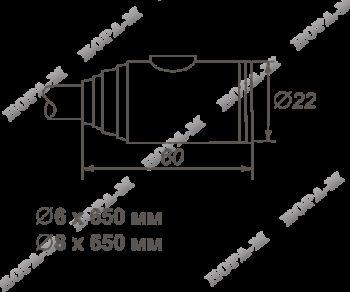 Н-М Замок велосипедный №24 размер ф6х650мм