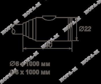 Н-М Замок велосипедный №22 размер ф6х1000мм