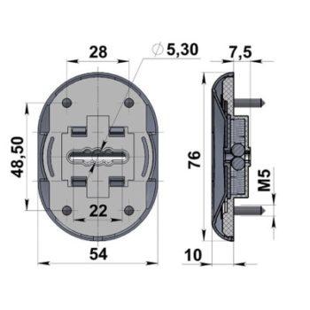 Ключевина Кл С10-Бр (2 шт.) (бронза)