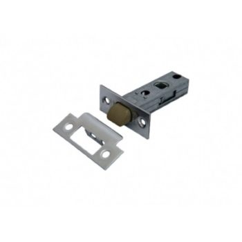Защёлка дверная межкомнатная L 6-45 PC, пластиковый язычок (хром)