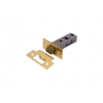 Защёлка дверная межкомнатная L 6-45 PB, пластиковый язычок (золото)