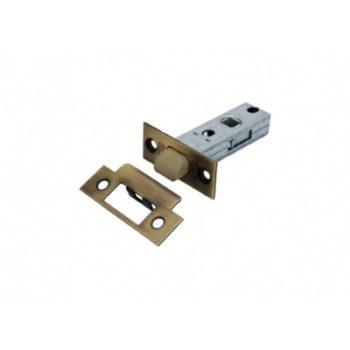 Защёлка дверная межкомнатная L 6-45 AB, пластиковый язычок (бронза)