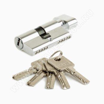 Цилиндр алюмин А60РС (ключ/завёртка, хром) TURDUS