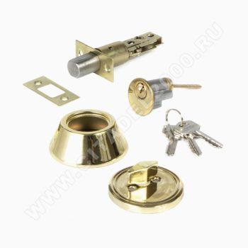 Н-М Замок врезной D1 (золото) (ключ/фиксатор)