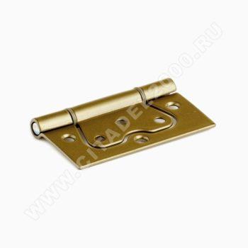 Петля без врезки ПНУ-85 (золотой металлик)