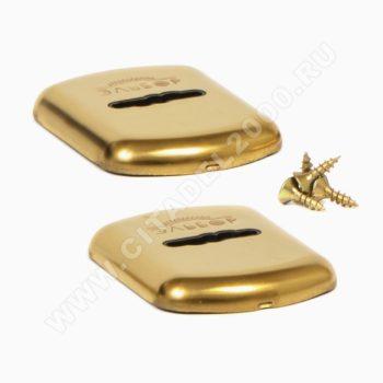 """5.042.3Б Комплект накладок для сувальдного замка """"Эльбор"""" (золото)"""