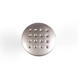 Ручка-кнопка мебельная 2699 С (мат.хром) d=28мм