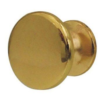 Ручка-кнопка мебельная 306 С (золото) d=24 мм