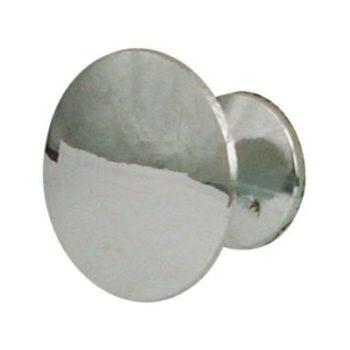 Ручка-кнопка мебельная 306 С (хром) d=24 мм