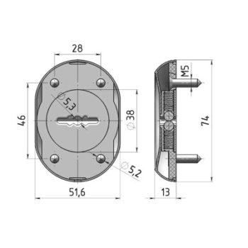 Ключевина Кл-С13-Бр (2 шт.) (бронза)