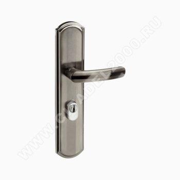 Н-М Ручка для китайских дверей 200-68 мм ЕСО (мат.хром/чёрн.никель) - правая