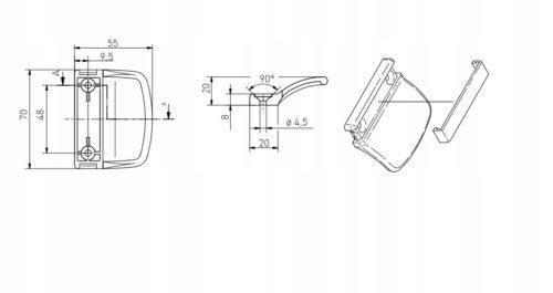 Обратная ручка для балконной двери ПВХ (белая)